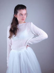 bridalknitwear bolero, sweater and loops