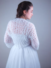 Load image into Gallery viewer, wedding knit jacket for brides in corona times