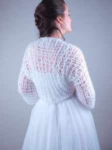 Bridal knit coverup couture from beemohr