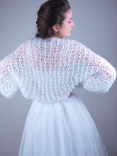 Load image into Gallery viewer, Loosely knitted bridal coverup NOWY look through and soft