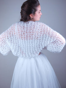 Loosely knitted bridal coverup NOWY look through and soft