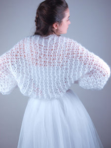 knit stole for brides in corona times