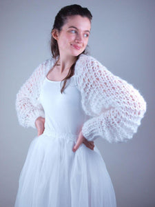 wedding knit jacket couture from beemohr
