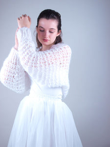 handknited bridal jacket knit couture beemohr
