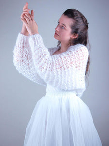 Bridal knit bolero soft wool couture from beemohr