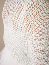 Load image into Gallery viewer, Bridal knit bolero in silver knitted for your wedding