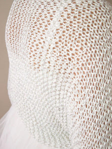 Bridal knit bolero in silver knitted for your wedding