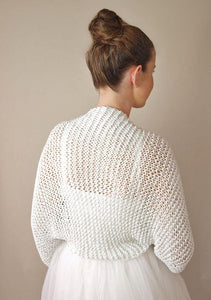 Bridal Coture: bolero in silver knitted for your wedding