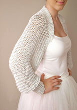 Load image into Gallery viewer, Bridal Fashion: bolero in silver knitted for your wedding