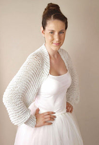 Bridal bolero in silver and golden knitted for your wedding