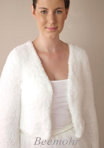 Warm bridal cardigan with 2 features: soft for autumn and winter brides ♥ WENDY ♥