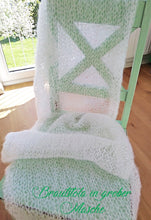 Load image into Gallery viewer, Wedding stole knitted with soft wool DIY ivory and white