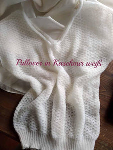 Knit sweater vest made of cashmere in white and ivory