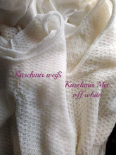 Load image into Gallery viewer, Knit sweater vest made of cashmere in white and ivory blue