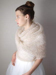 Bridal Knit Loop WIND made of mohair transparent ♥