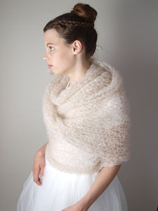 DIY bridal pashmina knitted with mohair from ingenua