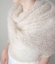 Load image into Gallery viewer, DIY bridal scarf knitted with mohair bemohr knit fashion