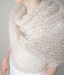DIY bridal scarf knitted with mohair bemohr knit fashion