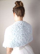 Load image into Gallery viewer, Shoulder wedding warmer in fur look for winter and autumn brides in USA