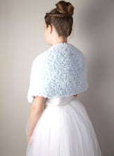 Load image into Gallery viewer, Bridal knit warmer in fur look for winter and autumn brides in USA