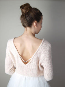 Wedding pullover knitted in powder, ivory and white for Boho and Bohemian weddings