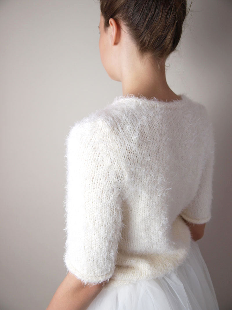Cosy bridal knit sweater for your bridal skirt or dress white, ivory and rose
