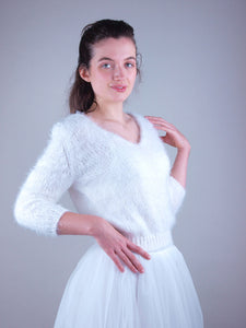 bridal knit wear with bridal gown