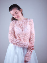Load image into Gallery viewer, Loose net bridal knit swaater apricot