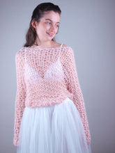 Load image into Gallery viewer, Loose net wedding knit swaater with tulle skirt