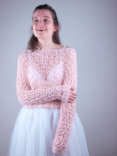 Load image into Gallery viewer, bridal knit sweater look through