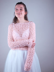 bridal knit sweater look through