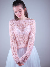 Load image into Gallery viewer, light wedding knit swaater apricot
