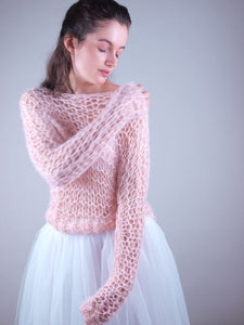 Bridal knit couture sweater