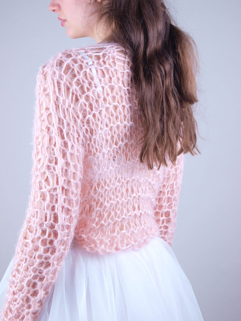 Cosy net sweater for brides and woman