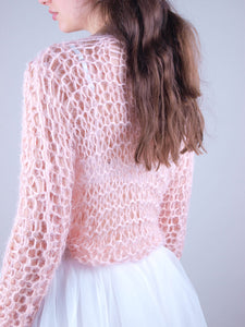Bridal knit couture sweater for new zeeland