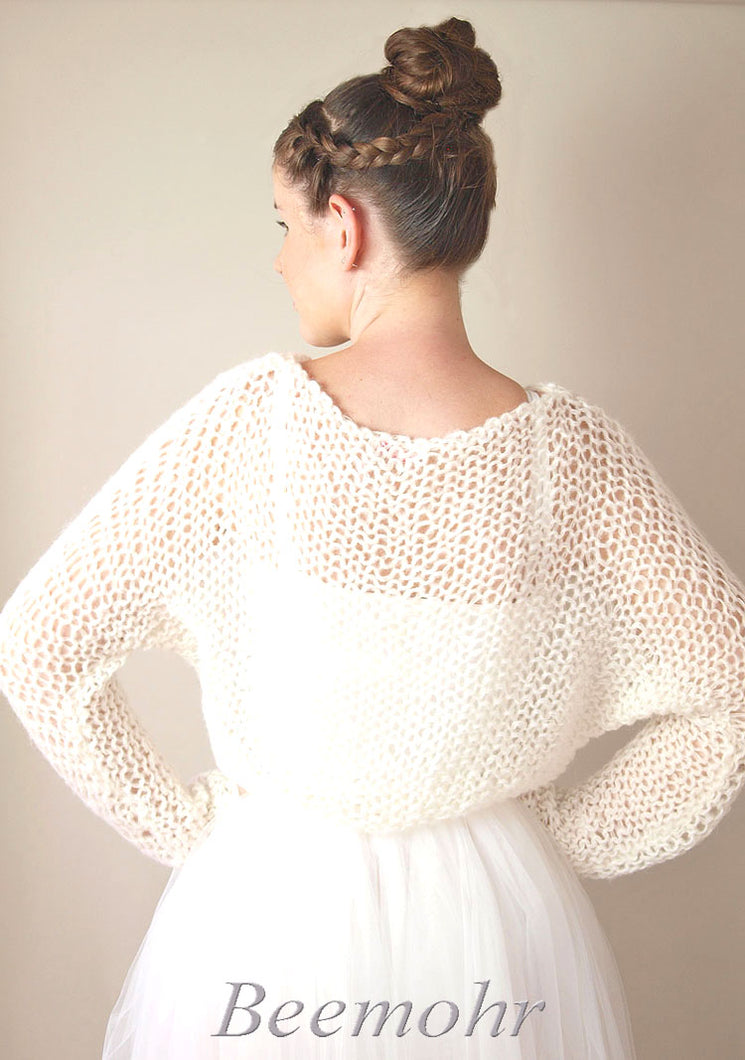 Bridal pullover in big look knit fashion beemohr