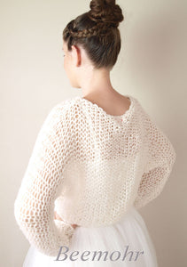 Bridal pullover in big look knit fashion for your wedding