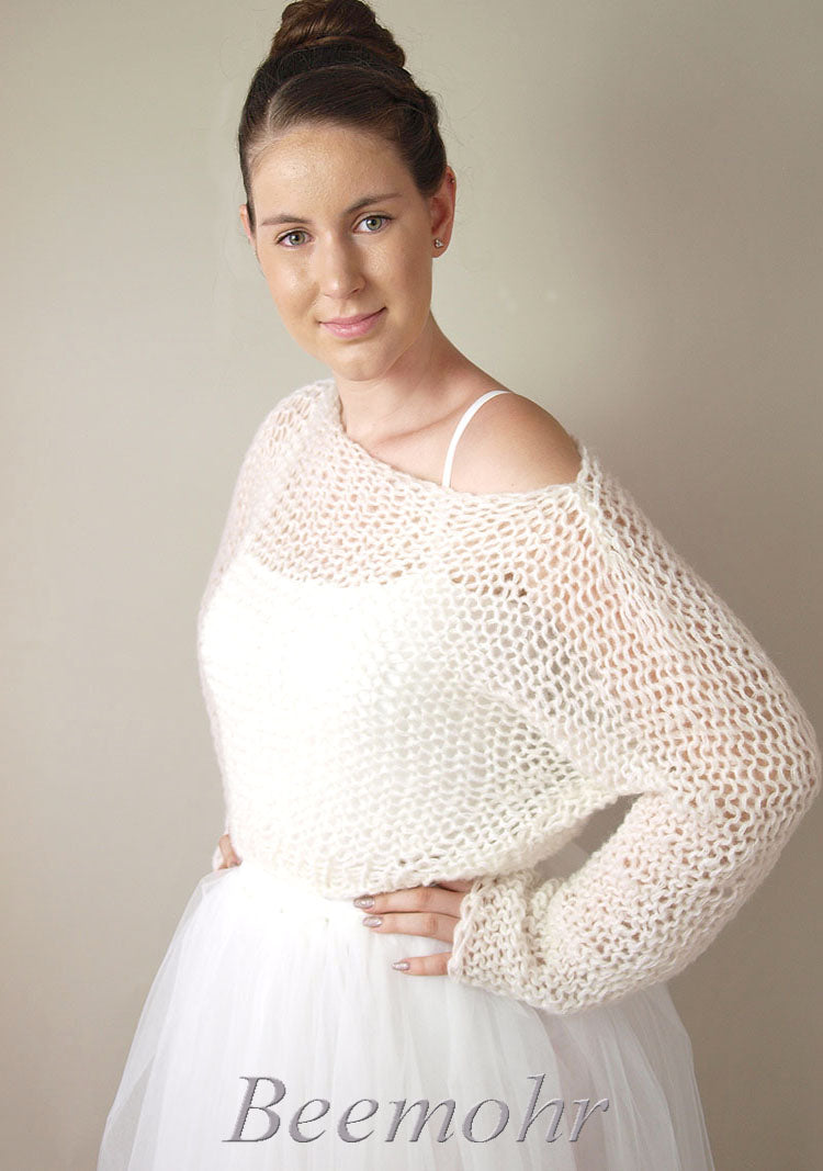 Bridal pullover in big look knit fashion beemohr sends to New york