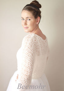 Bridal pullover in big look knit fashion beemohr for USA Brides