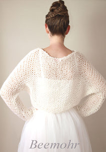 Wedding pullover in big look knit fashion beemohr