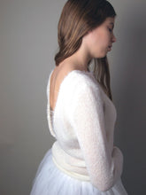 Load image into Gallery viewer, Bridal pullover knitted for your wedding gown in ivory