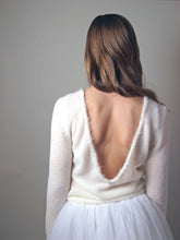 Load image into Gallery viewer, Bridal sweater knitted for your wedding skirt in ivory