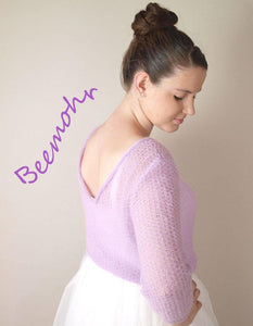 Bridal Knit pullover lilac for your wedding dress