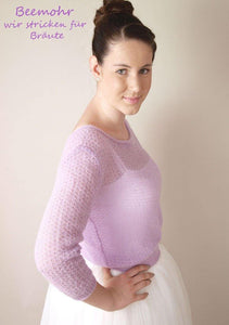 Bridal Knit Sweater lilac for your wedding skirt silk
