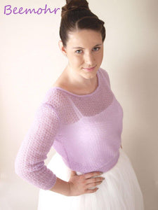 Bridal Lace Sweater lilac for your wedding dress