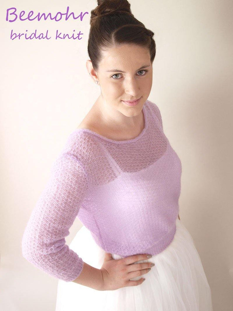 Bridal Knit Sweater lilac for your wedding dress