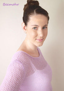 Bridal Knit Sweater ivory and lilac for your wedding dress