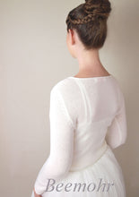 Load image into Gallery viewer, Bridal knit pullover in ivory for your wedding skirt or bridal gown