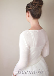 Bridal knit pullover in ivory for your wedding skirt or bridal gown