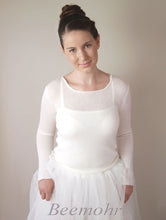 Load image into Gallery viewer, Wedding pullover in ivory knitted with cashmere and silk ivory